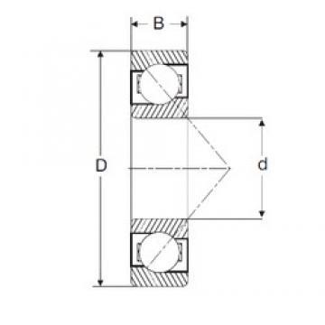 110 mm x 200 mm x 38 mm  SIGMA 7222-B roulements à billes à contact oblique