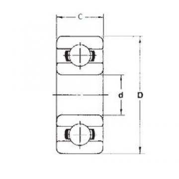 7 mm x 26 mm x 9 mm  FBJ 637 roulements rigides à billes