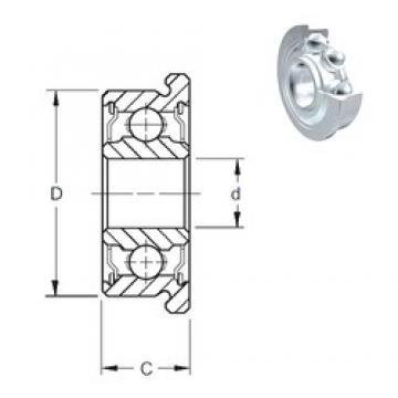 5 mm x 16 mm x 5 mm  ZEN SF625-2Z roulements rigides à billes