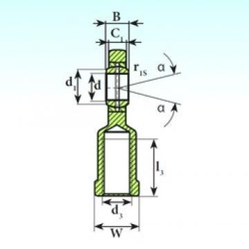 30 mm x 47 mm x 22 mm  ISB SI 30 ES paliers lisses