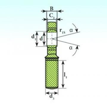 30 mm x 47 mm x 22 mm  ISB SA 30 C 2RS paliers lisses