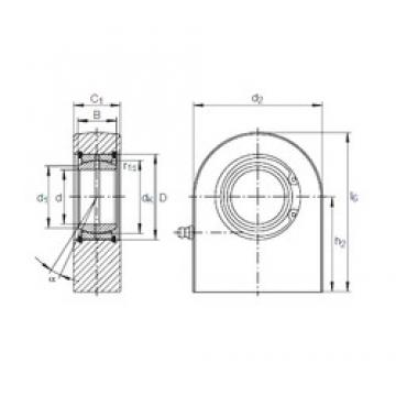120 mm x 180 mm x 85 mm  INA GF 120 DO paliers lisses