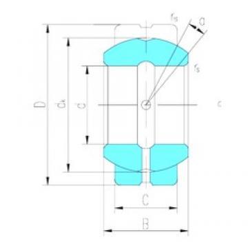 127 mm x 196,85 mm x 111,125 mm  LS GEZ127ES-2RS paliers lisses