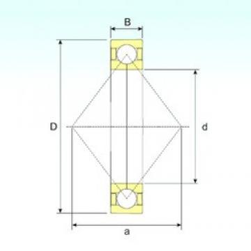 25 mm x 62 mm x 17 mm  ISB QJ 305 N2 M roulements à billes à contact oblique