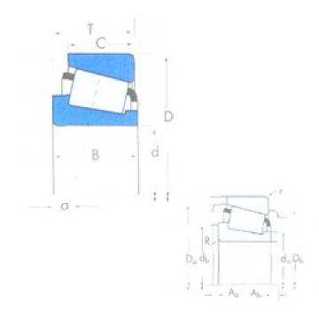85 mm x 150 mm x 36 mm  Timken X32217M/Y32217M Roulements à rouleaux coniques