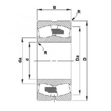 320 mm x 480 mm x 121 mm  Timken 23064YMB roulements à rouleaux sphériques