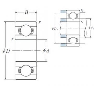 4 mm x 9 mm x 2,5 mm  ISO 684A roulements rigides à billes