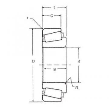 40 mm x 85 mm x 21,692 mm  FBJ 350A/354A Roulements à rouleaux coniques