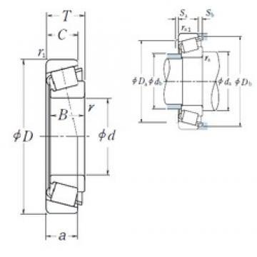 105 mm x 190 mm x 36 mm  NSK HR30221J Roulements à rouleaux coniques