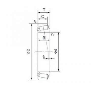 95 mm x 200 mm x 67 mm  NACHI 32319 Roulements à rouleaux coniques