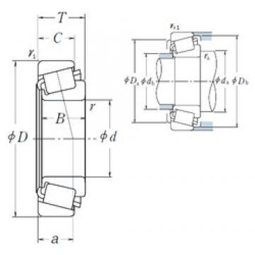 63,5 mm x 104,775 mm x 22 mm  NSK 39250/39412 Roulements à rouleaux coniques