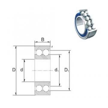 35 mm x 80 mm x 34,9 mm  ZEN S5307-2RS roulements à billes à contact oblique