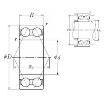 35 mm x 80 mm x 34,9 mm  NSK 5307 roulements à billes à contact oblique