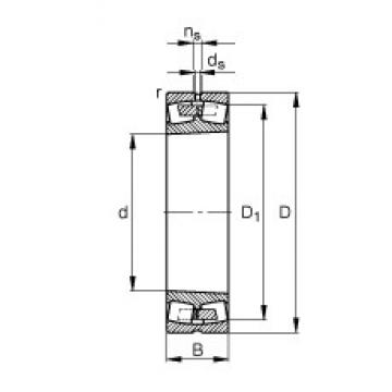 170 mm x 310 mm x 110 mm  FAG 23234-E1A-K-M roulements à rouleaux sphériques
