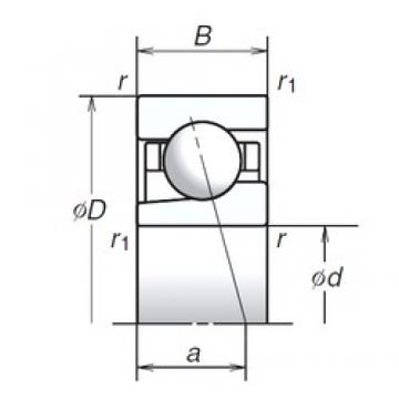 12 mm x 28 mm x 8 mm  NSK 12BGR10X roulements à billes à contact oblique