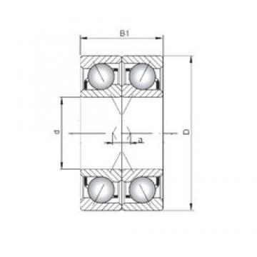 ISO 7040 CDF roulements à billes à contact oblique