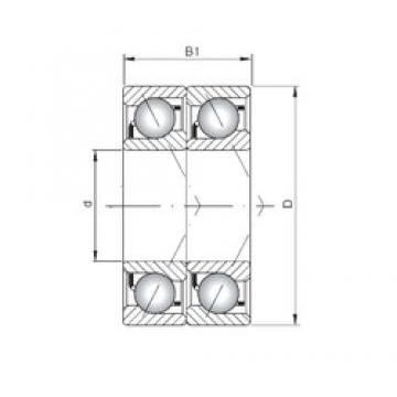 ISO 7015 BDT roulements à billes à contact oblique