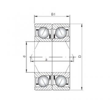 ISO 7007 CDB roulements à billes à contact oblique