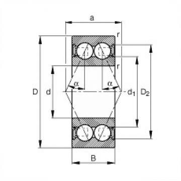 12 mm x 28 mm x 12 mm  FAG 3001-B-2RSR-TVH roulements à billes à contact oblique