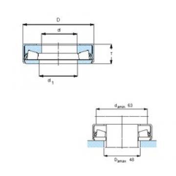 SKF 353118 Butées à rouleaux coniques