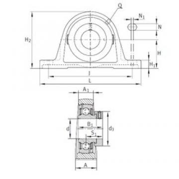 INA PAK1-7/16 unités de roulement
