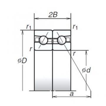 140 mm x 210 mm x 31,5 mm  NSK 140BAR10S roulements à billes à contact oblique