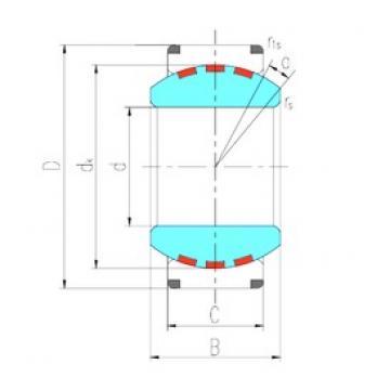 400 mm x 540 mm x 190 mm  LS GEC400XF/Q paliers lisses