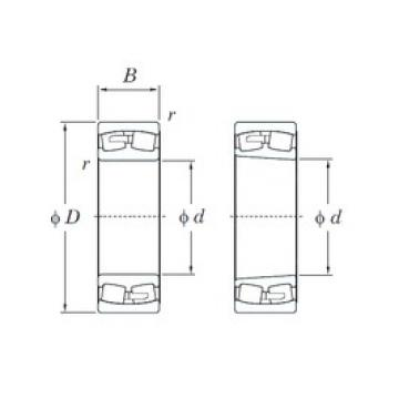 260 mm x 400 mm x 104 mm  KOYO 23052R roulements à rouleaux sphériques