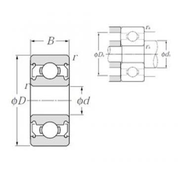 3 mm x 9 mm x 5 mm  NTN 603ZZ roulements rigides à billes