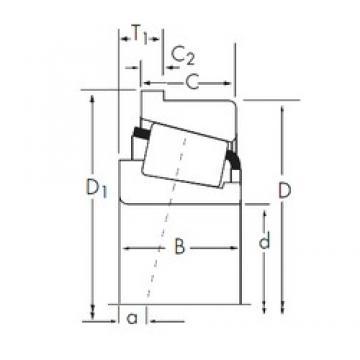 41,275 mm x 80 mm x 22,403 mm  Timken 336/332-B Roulements à rouleaux coniques