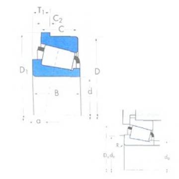 23,812 mm x 61,912 mm x 30,416 mm  Timken 3659/3620B Roulements à rouleaux coniques