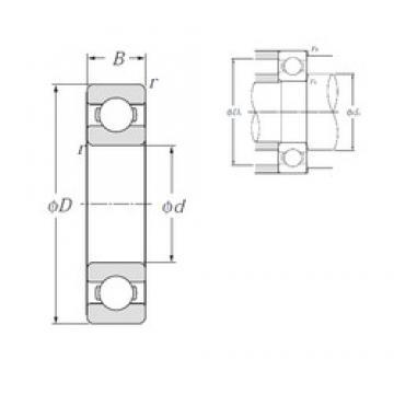 380 mm x 560 mm x 82 mm  NTN 6076 roulements rigides à billes