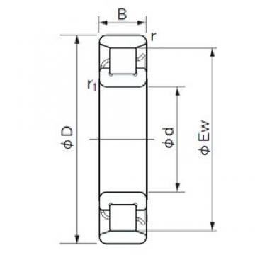 130 mm x 340 mm x 78 mm  NACHI N 426 roulements à rouleaux cylindriques