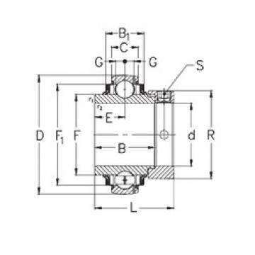 100 mm x 215 mm x 86 mm  NKE GNE100-KRRB roulements rigides à billes