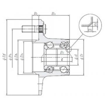 NTN HUB156-37 roulements à billes à contact oblique