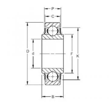 35 mm x 72 mm x 25,00 mm  Timken 207KRR roulements rigides à billes