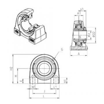 SNR UKPG210H unités de roulement