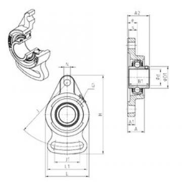 SNR UCFA211 unités de roulement