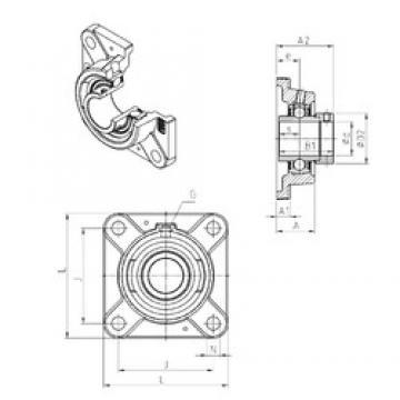 SNR EXFE212 unités de roulement