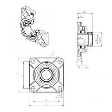 SNR EXF218 unités de roulement
