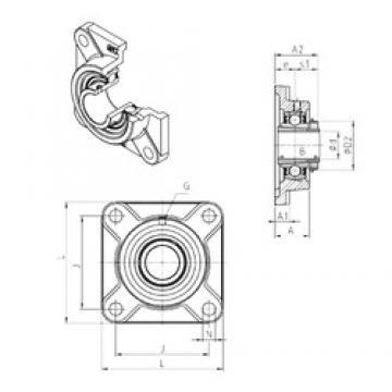 SNR UKF324H unités de roulement