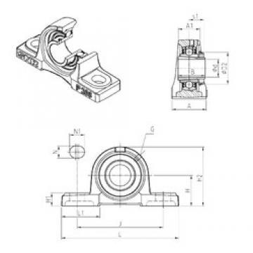 SNR UKP307H unités de roulement