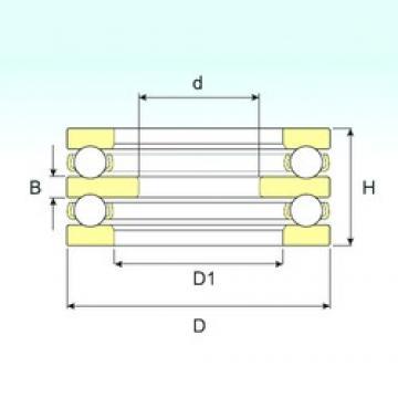 55 mm x 115 mm x 15 mm  ISB 52313 butées à billes
