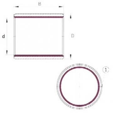 4 mm x 5,5 mm x 4 mm  INA EGB0404-E40 paliers lisses