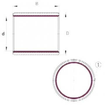 80 mm x 85 mm x 40 mm  INA EGB8040-E40 paliers lisses