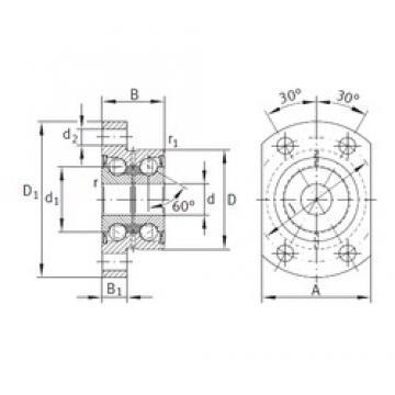 8 mm x 32 mm x 20 mm  INA ZKLFA0850-2RS roulements à billes à contact oblique