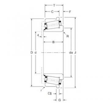 101,6 mm x 165,1 mm x 39,5 mm  Gamet 141101X/141165XC Roulements à rouleaux coniques