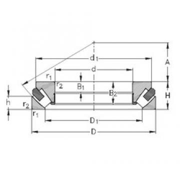NKE 29422-M roulements à rouleaux de poussée