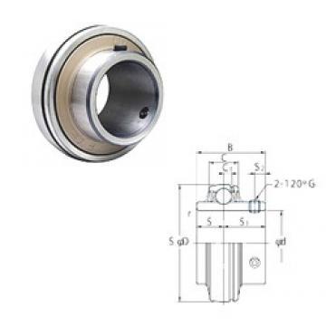 28,575 mm x 62 mm x 38,1 mm  FYH UC206-18 roulements rigides à billes