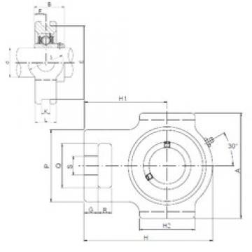 ISO UCT205 unités de roulement